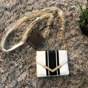 Cynthia Rowley Ella Mini Black\ White Leather Bag